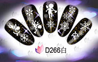 Слайдер  для ногтей 266 Новогодний дизайн