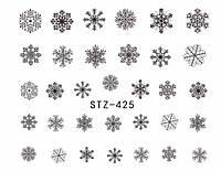 Слайдер  для ногтей STZ-425 Новогодний дизайн