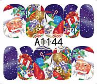 Слайдер  для ногтей A1144 Новогодний дизайн