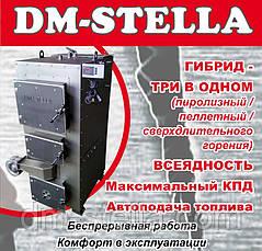 Двухконтурный пеллетный пиролизный отопительный котел с автоматическим удалением  золы 50 кВт, фото 3