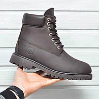 Ботинки Timbarland мужские зима (коричневые), ТОП-реплика, фото 1