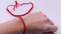 Красная нить из шерсти браслет оберег