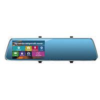 1080P Полный HD Авто Видеорегистратор Приборная панель заднего вида с зеркалом заднего вида Тахограф с сенсорным экраном