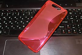 Чехол ZTE Blade V8 силикон S-LINE розовый