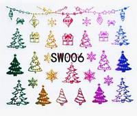 Наклейки 3Д для ногтей 006 Новогодний дизайн