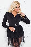 Жакет женский нарядный черный, фото 1