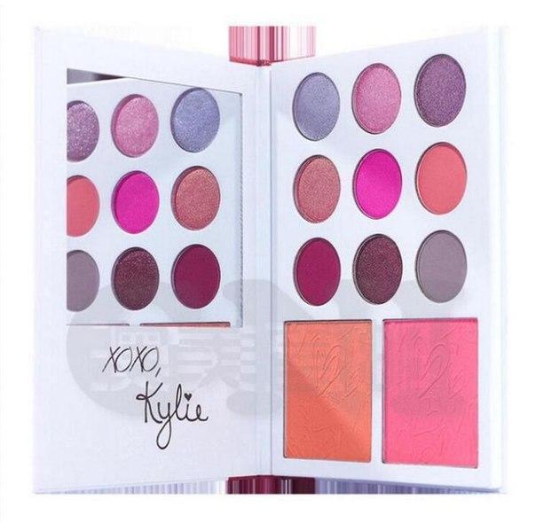 Лимитированный набор Kylie Valentine's Diary, знаменитые тени и румяна Kylie 11 оттенков, реплика