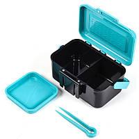 LEO13*9*6.5cm ABS Пластмассовая наживка Коробка Зажим для рукояти / талии Рыбалка Снасти Коробка
