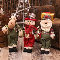 Новогодние куклы Большой Санта-снеговик Фигурка Рождественские подарки Игрушки для дома Новогодние украшения