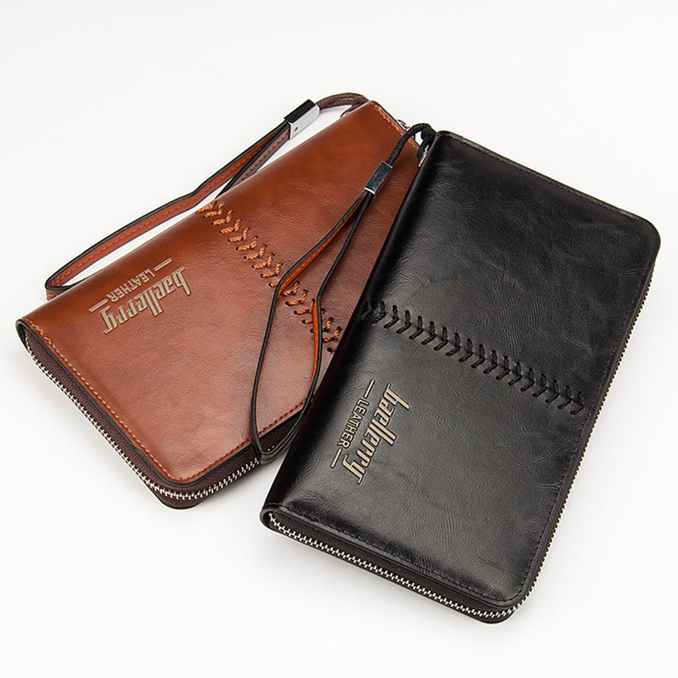 Мужское портмоне Baellerry Leather, кошелек Балери Лезер, клатч Балери качество!, реплика