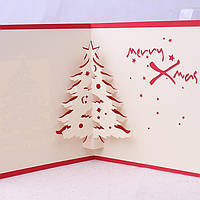 Рождественские 3D всплывающие рождественские елки бумаги высекая поздравительную открытку Рождественские подарки партии поздравительну
