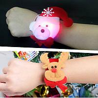 Рождественский хлопок Светодиодный Кольца с повязками Стандарты Браслет из шлепка Рождественская вечеринка Смешной рождественский пода