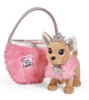 Собачка Чихуахуа Принцесса красоты в меховом манто с тиарой Chi Chi Love Simba 5893126