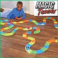Magic Tracks гнущий светящийся трек 165 деталей, Меджик трек гоночная трасса, конструктор - подарок для детей, фото 4