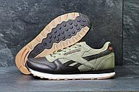 Мужские кроссовки Reebok Classic бежевые с коричневым (Реплика ААА+), фото 1