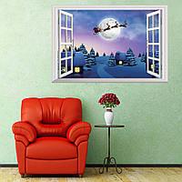 Рождественские украшения 3D стены стены стикеры гостиной телевизор стены стикеры