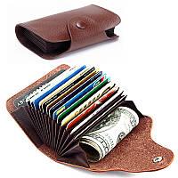 КожаPURFIDКоробкадляблокировки кармана Кошелек Держатель кредитной карты Наличные Чехол