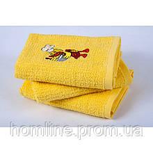 Полотенце кухонное Lotus вышивка Duck желтое 40*60