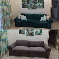 Перетяжка дивана для гостиной комнаты