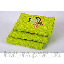 Полотенце кухонное Lotus вышивка Fruit зеленое 40*60