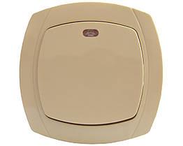 Выключатель 1-клавишный с подсветкой BBсб10-1-1-Ov-I АСКО-УКРЕМ