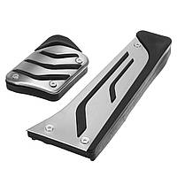 2XНетДрельПротивоскользящаянержавеющая сталь Топливная тормозная педаль для педалей для BMW