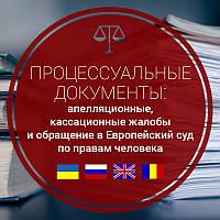 Апелляционные, кассационные жалобы и обращение в Европейский суд по правам человека