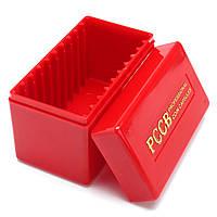 Красное хранилище монет Чехол Коробка Органайзер для 10 сертифицированных гранулированных PCGS NGC Slab Coin Holder