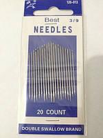 Иглы швейные Best Needles 3/9, в упаковке 20 шт. разного размера