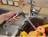 Смеситель кран однорычажный с лейкой на кухню для мойки раковины 0474, фото 5