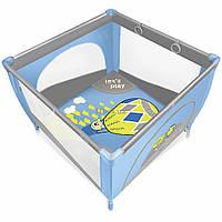 Детский манеж Baby Design Play Up 03 Blue с кольцами (9598)