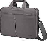 """Надежная сумка для ноутбука до 15,6"""" из текстиля Continent  CC-012 Grey, серый"""
