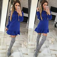 """Тёплое платье """"Шерри"""", S M, синий"""