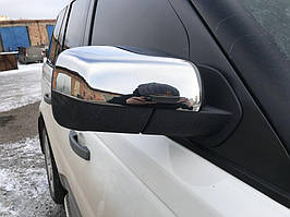 Нержавеющие накладки зеркал к Land Rover Discovery III (пара)