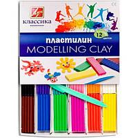 Пластилин MODELLING CLAY / Луч классика 12 цветов