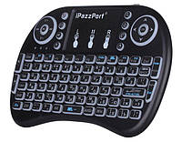 Беспроводная мини-клавиатура с тачпадом и подсветкой W-Shark I8 - Black RUS