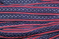 Тесьма цепь 24мм (50м) синий+красный