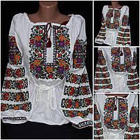"""Красочная вышитая блузка """"Аринка"""", женская, домотканое полотно, 42-58 р-ры, 610/560 (цена за 1 шт. + 50 гр.)"""