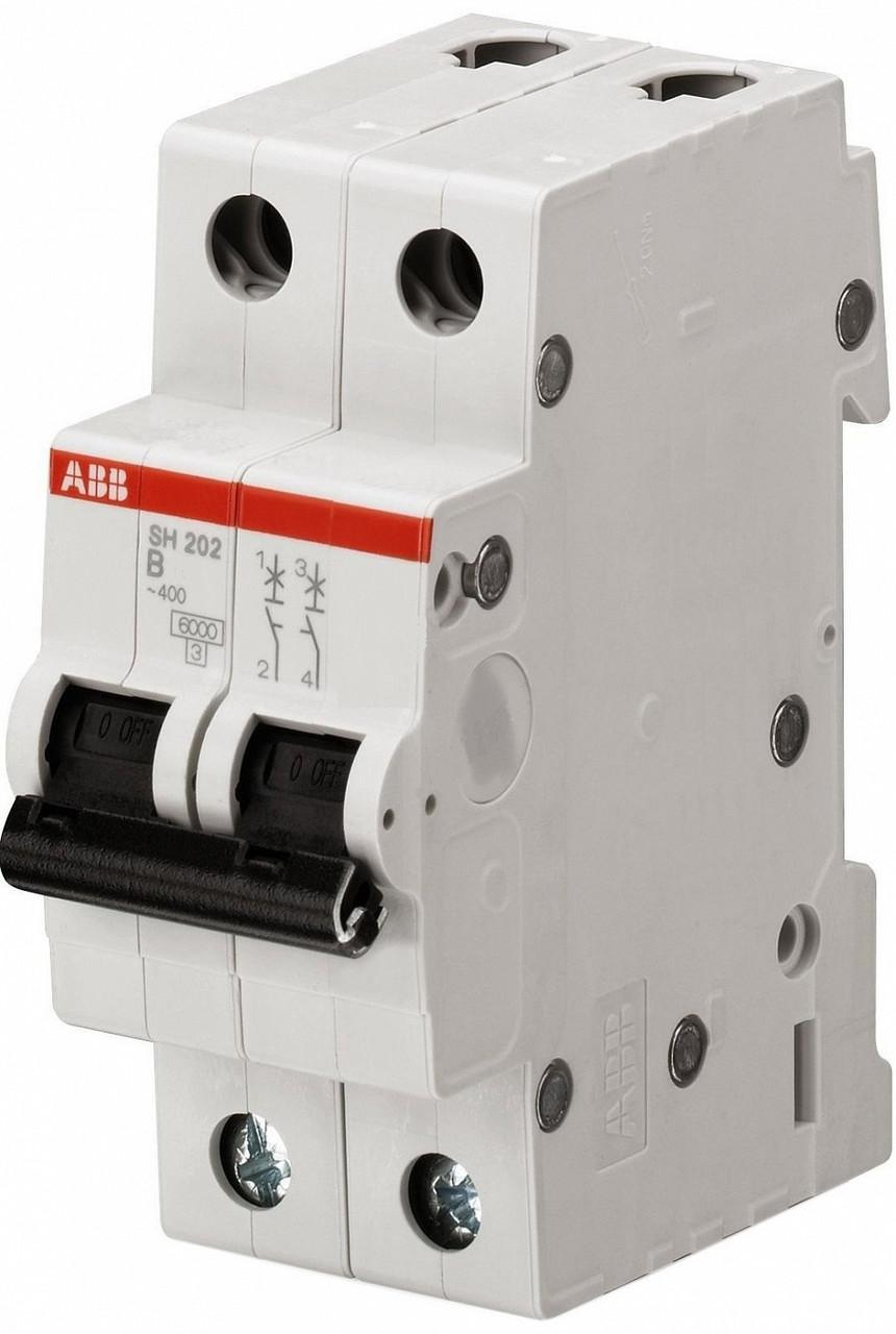 Автоматичний вимикач АВ SH202 2р 20А тип B 6кА