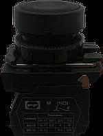 Выключатель кнопочный ВК011-НЦЧ (черная кнопка без фиксации) 1NO