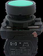 Выключатель кнопочный ВК011-НЦЗ (зелёная кнопка без фиксации) 1NO