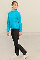 Женский спортивный костюм Adidas на флисе голубой с черным (86420) код 922А