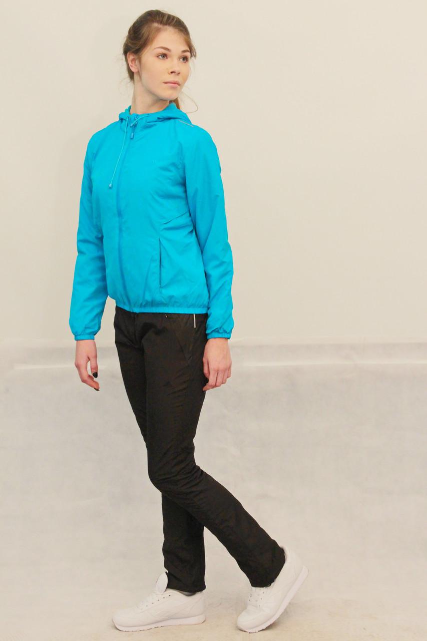 c53bc632 Женский спортивный костюм Adidas на флисе голубой с черным (86420) код 922А  - СПОРТ