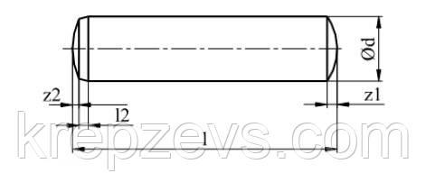 Схема штифта ГОСТ 24296-93