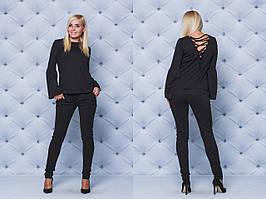 Костюм женский с брюками черный