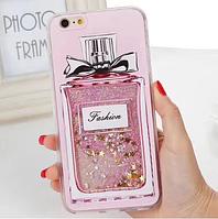 Чехол на iPhone 6 6s женский парфюм духи жидкий песок со звездочками