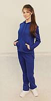 Женский теплый спортивный костюм New Style 258 синий код 124А