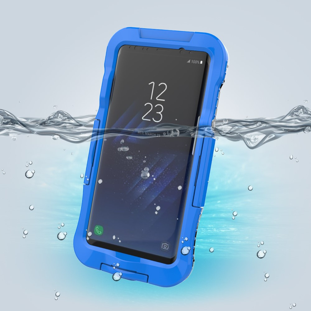 Чехол накладка для Samsung Galaxy S8 Plus G955 пластик и силикон водонепроницаемый, синий