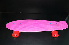 Пенниборд Fish Color рожевий SK-404-3