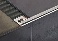 Угол наружный для плитки из нержавеющей стали ННП10 2.5 м